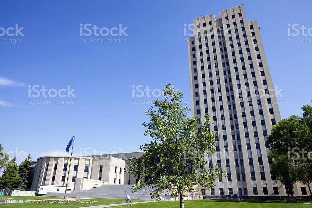 North Dakota State Capitol Building royalty-free stock photo