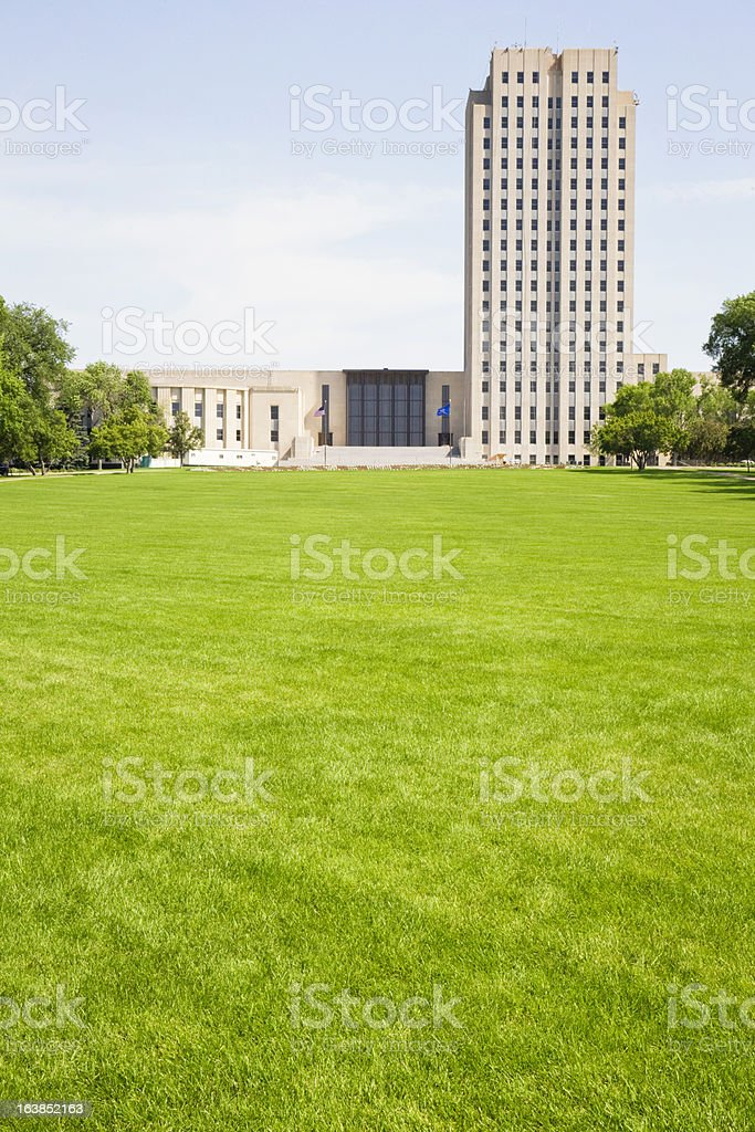 North Dakota State Capitol Building royalty-free stock photo