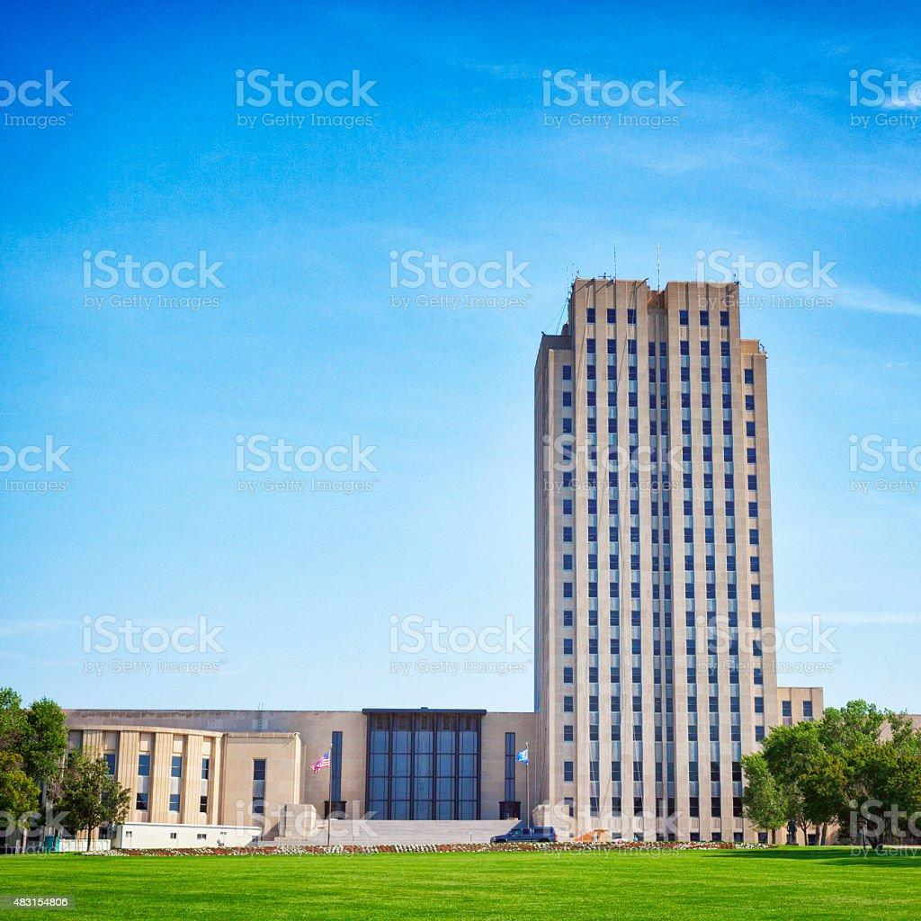 North Dakota State Capitol Building stock photo