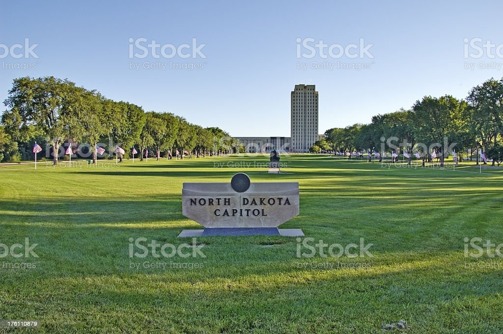 North Dakota State Capitol stock photo