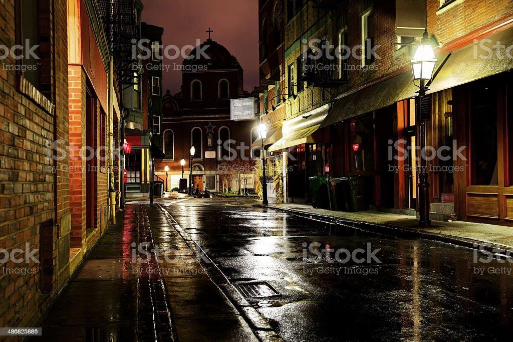 North End Neighborhood of Boston stock photo