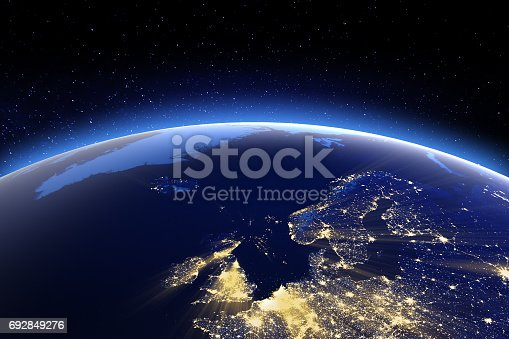 istock North Europe. Elements of this image furnished by NASA 692849276