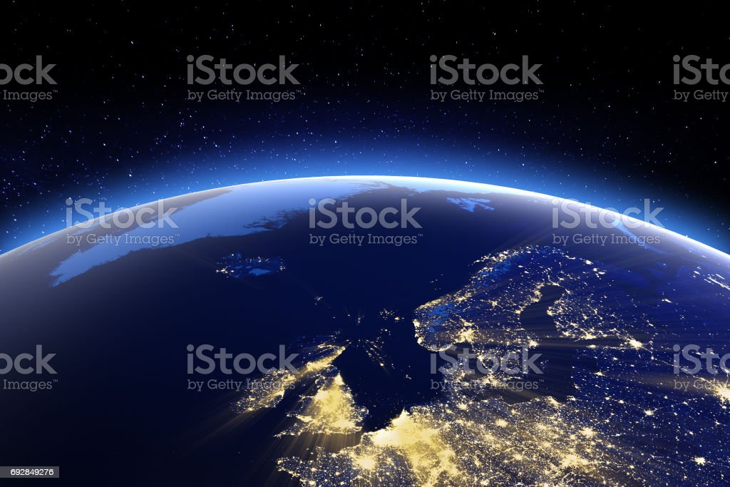 North Europe. Elements of this image furnished by NASA stock photo