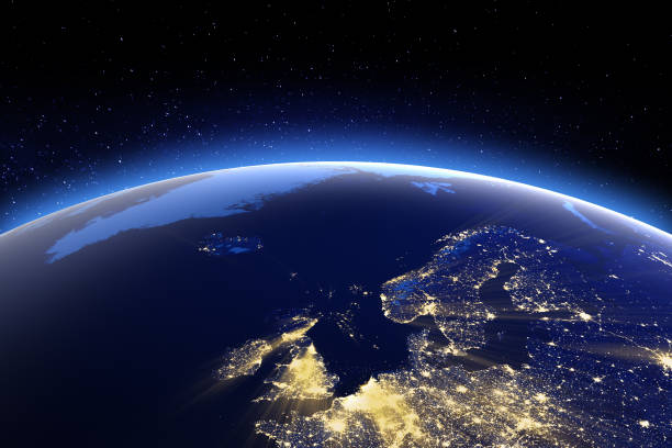 north europe. elements of this image furnished by nasa - europe map stock photos and pictures