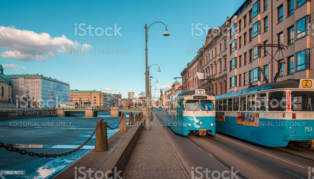 North European city life stock photo