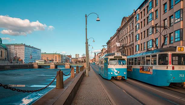 North European city life stock photo