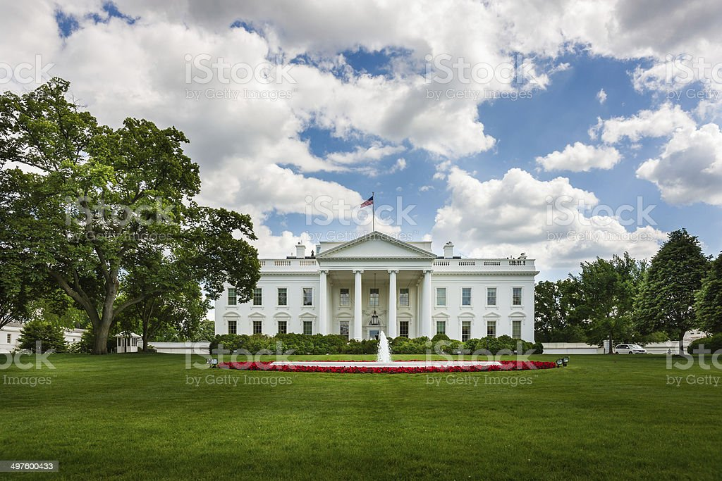 North Façade of White House in Washington, D.C. USA stock photo