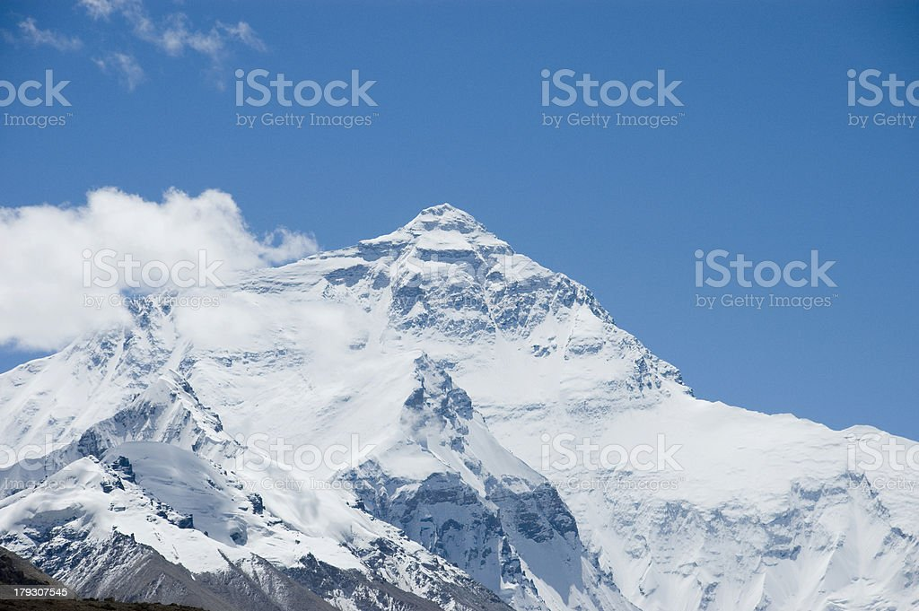 North Face Mt Everest stock photo