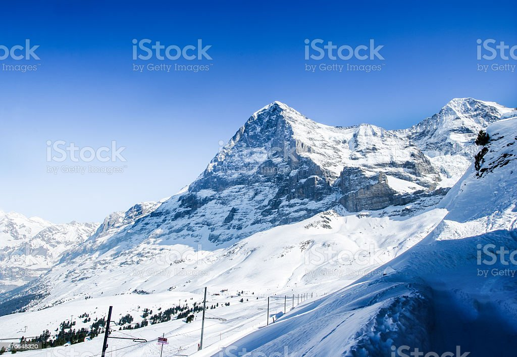 North face of mount Eiger stock photo