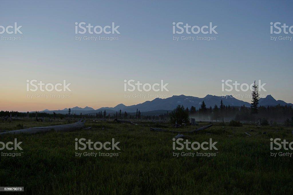 North Flathead Valley Dusk stock photo