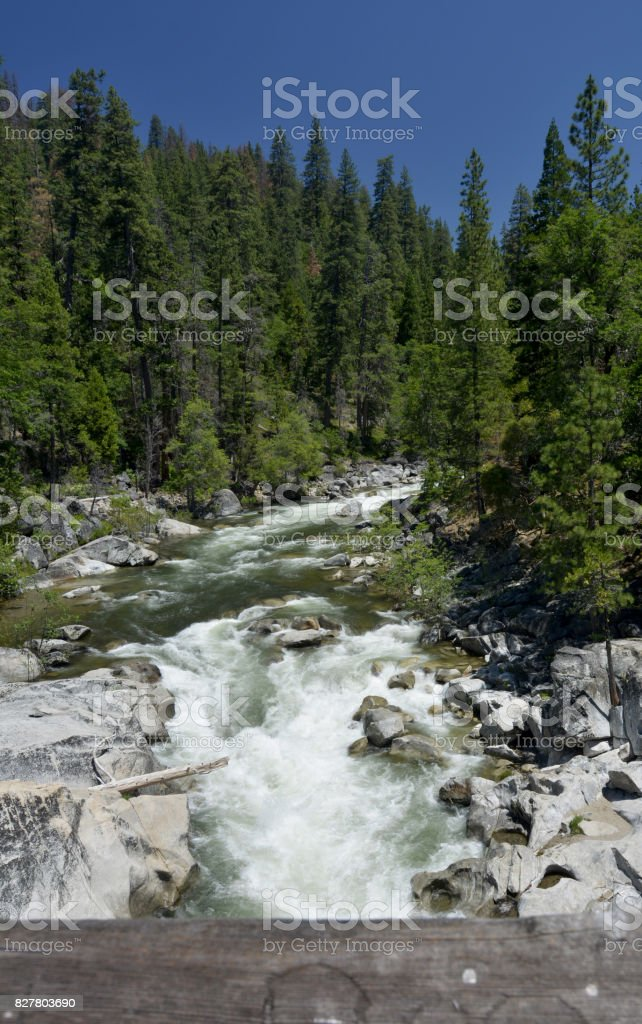 North Fork Stanislaus River stock photo
