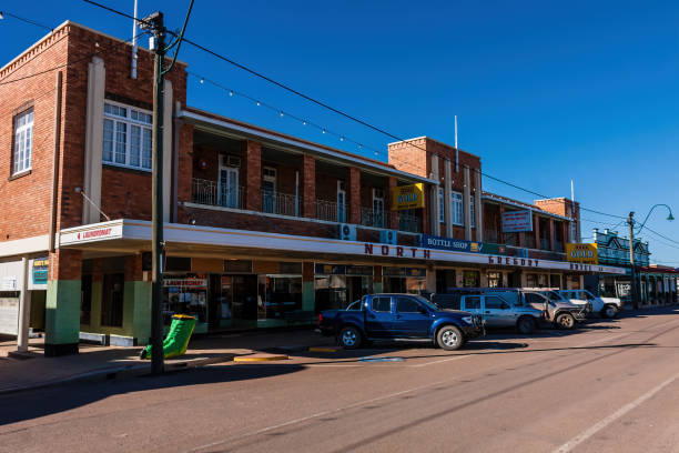 North Gregory Hotel and local businesses on Elderslie Street stock photo