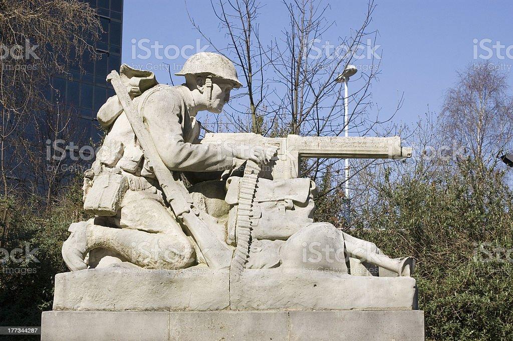 North Gunner sculpture, Portsmouth stock photo