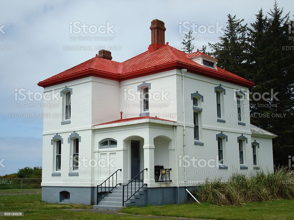 North Head lighthouse head keeper's house stock photo