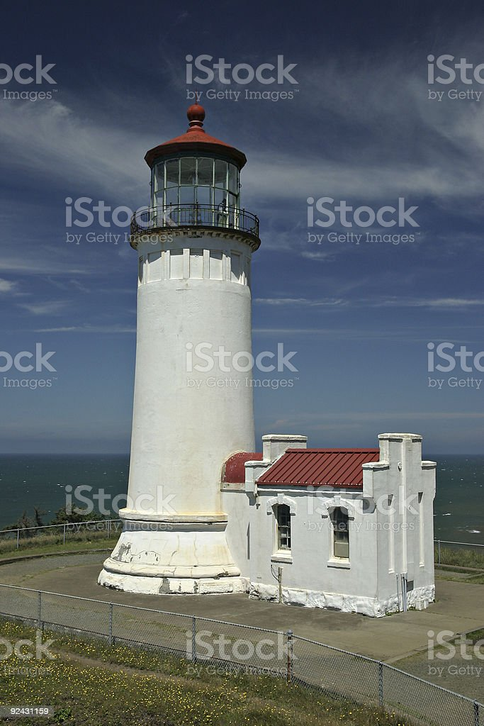 North Head Lighthouse in Washington State stock photo