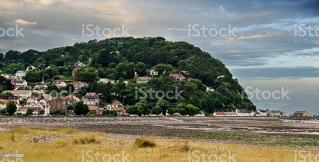 North Hill in Minehead stock photo