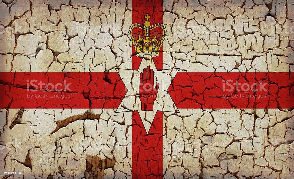 North Irlanda, bandeira vintage foto royalty-free