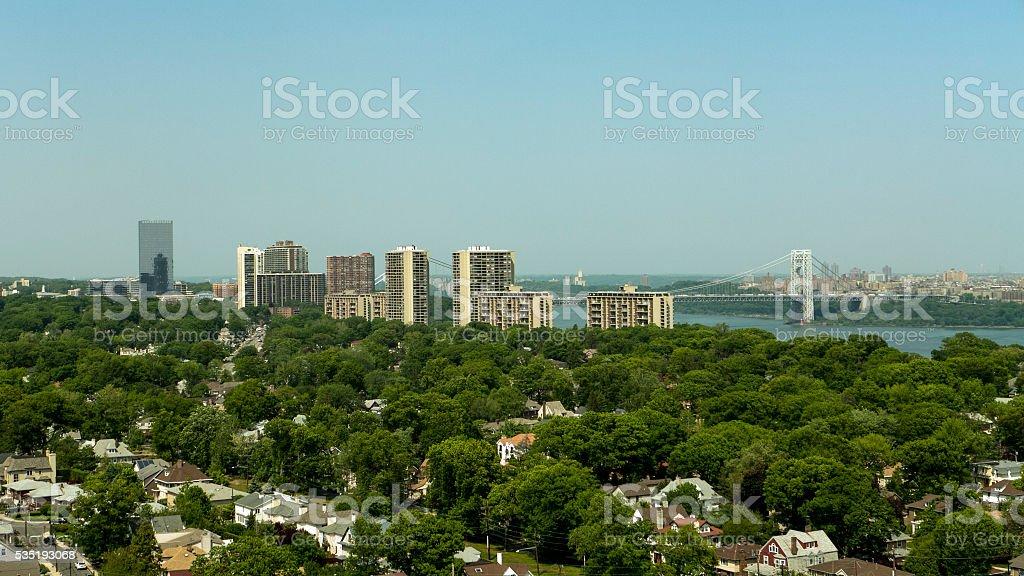 North Jersey and George Washington Bridge stock photo