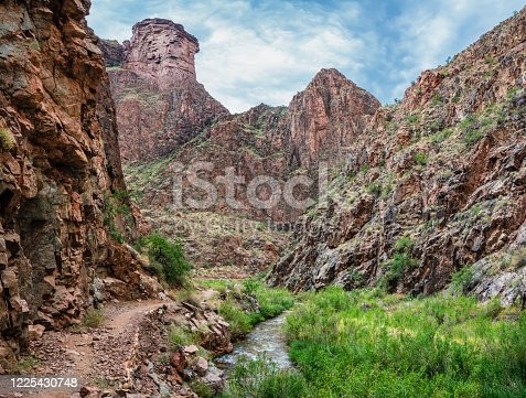 istock North Kaibab Trail - The Box - Bright Angel Creek - Grand canyon National Park 1225430748