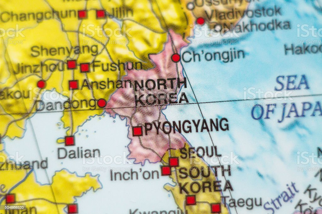 North Korea country map . stock photo