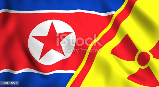istock north korea nuclear flag 953995502