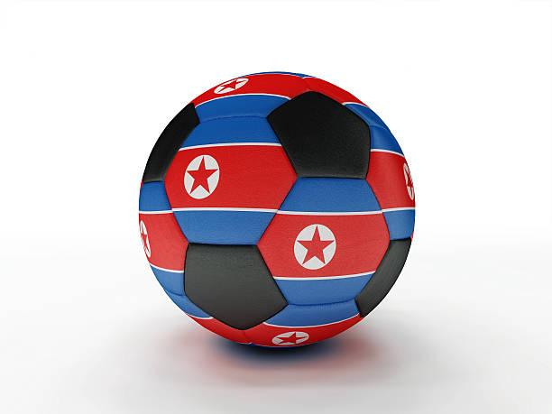 North Korea soccer football ball stock photo