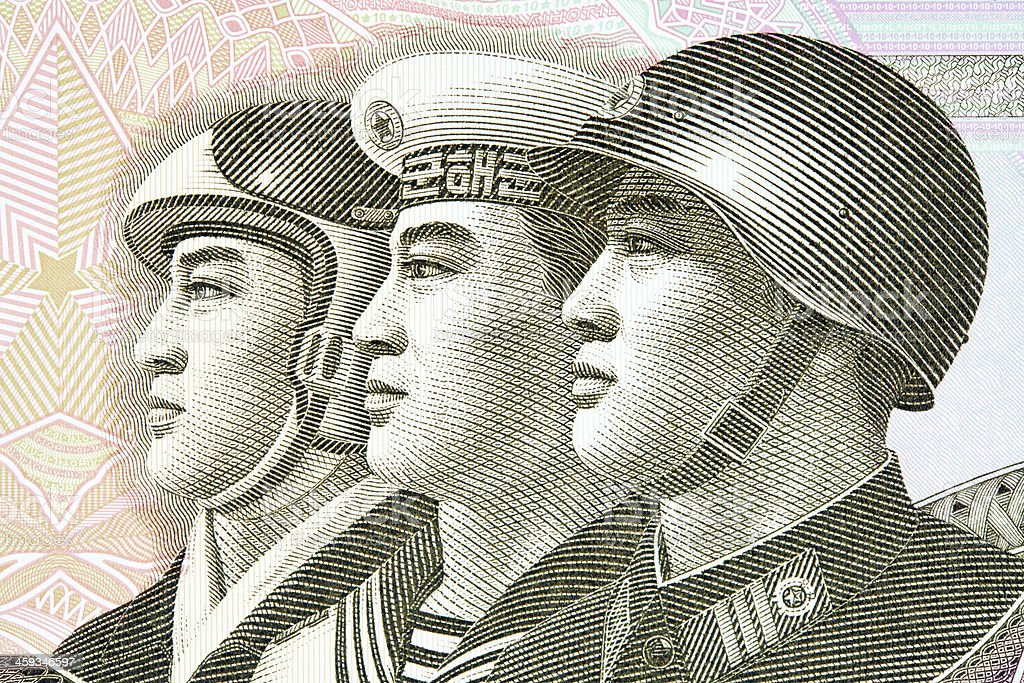 North Korean Banknote stock photo