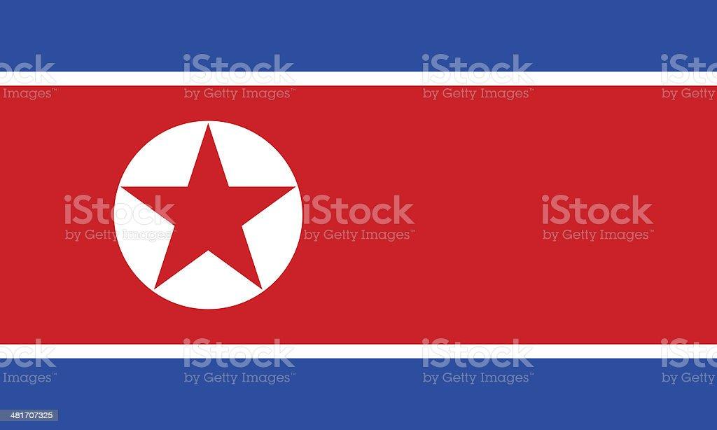 north korean flag royalty-free stock photo