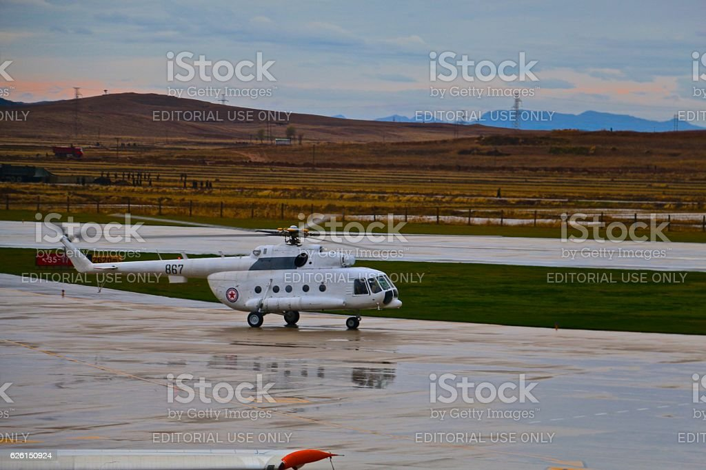 North Korean Helicopter stock photo
