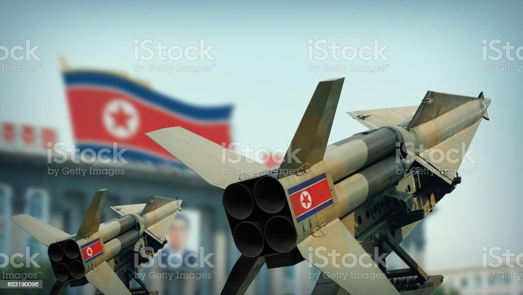 North Korean missiles stock photo