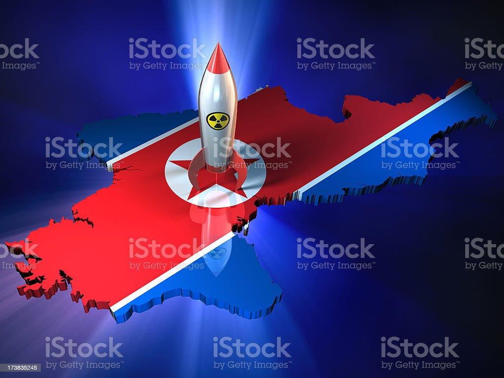 North Korean nuclear warhead stock photo
