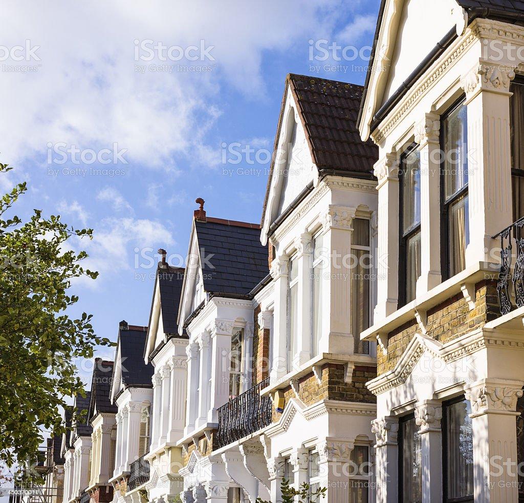 North London Housing Row stock photo
