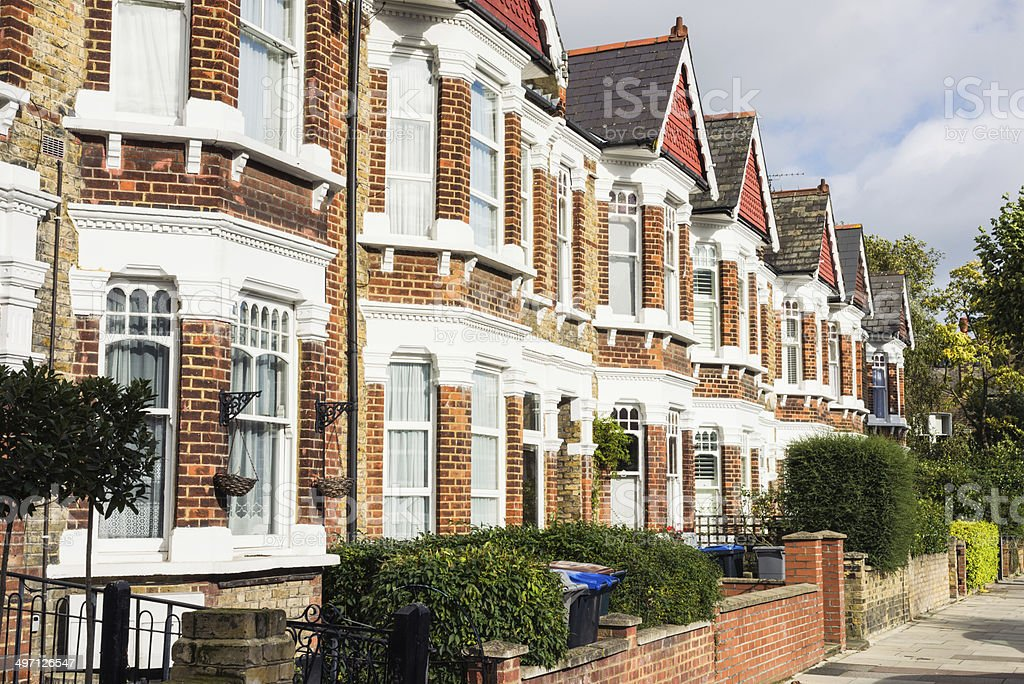 North London Terraced Housing stock photo