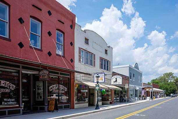 North Main Street, Berlin, Maryland stock photo