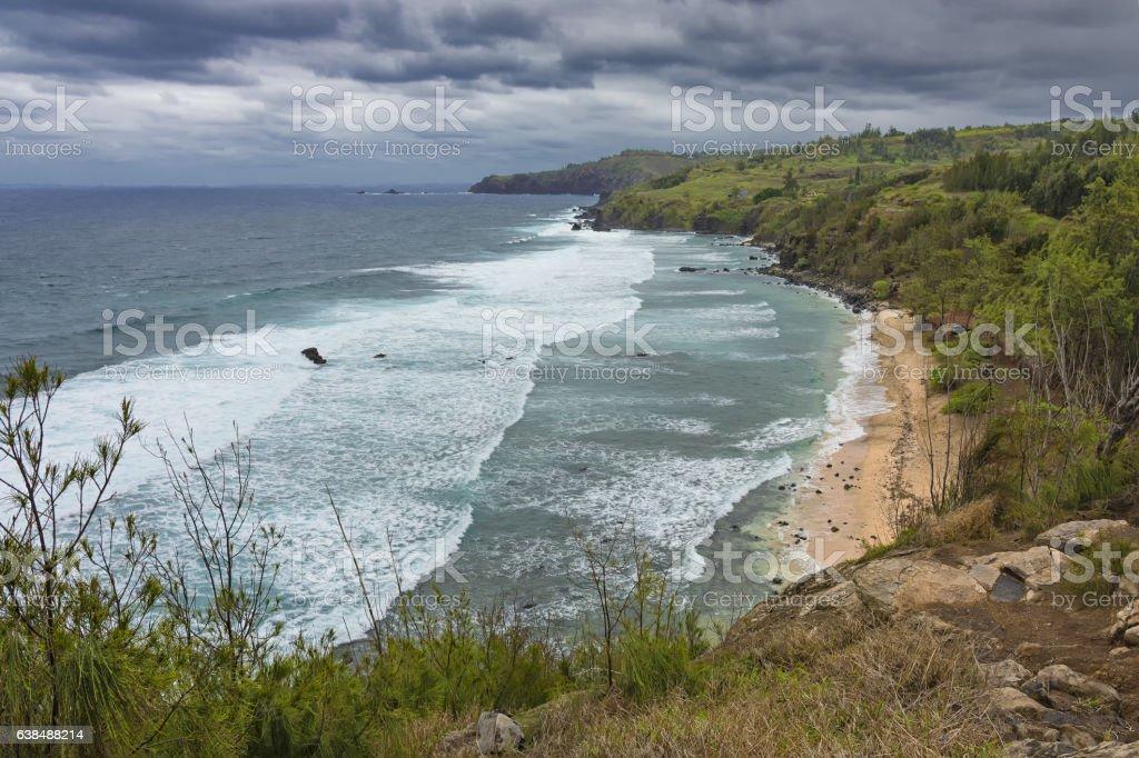North Maui Coast Kapalua West Maui Hawaii USA stock photo