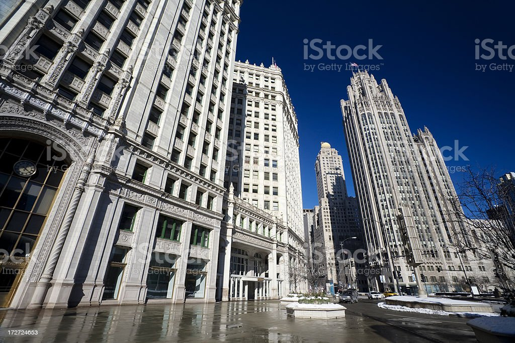 North Michigan Avenue Chicago royalty-free stock photo