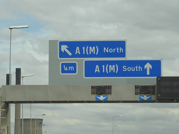 North Motorway Sign stock photo