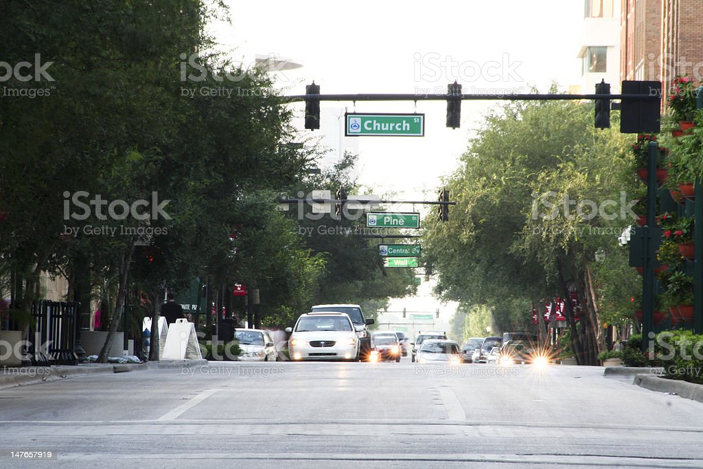 North Orange Avenue stock photo