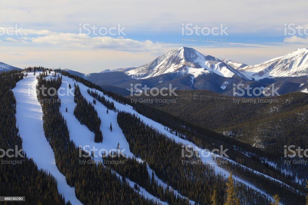 North Peak ski run at Keystone Ski Resort in Colorado stock photo