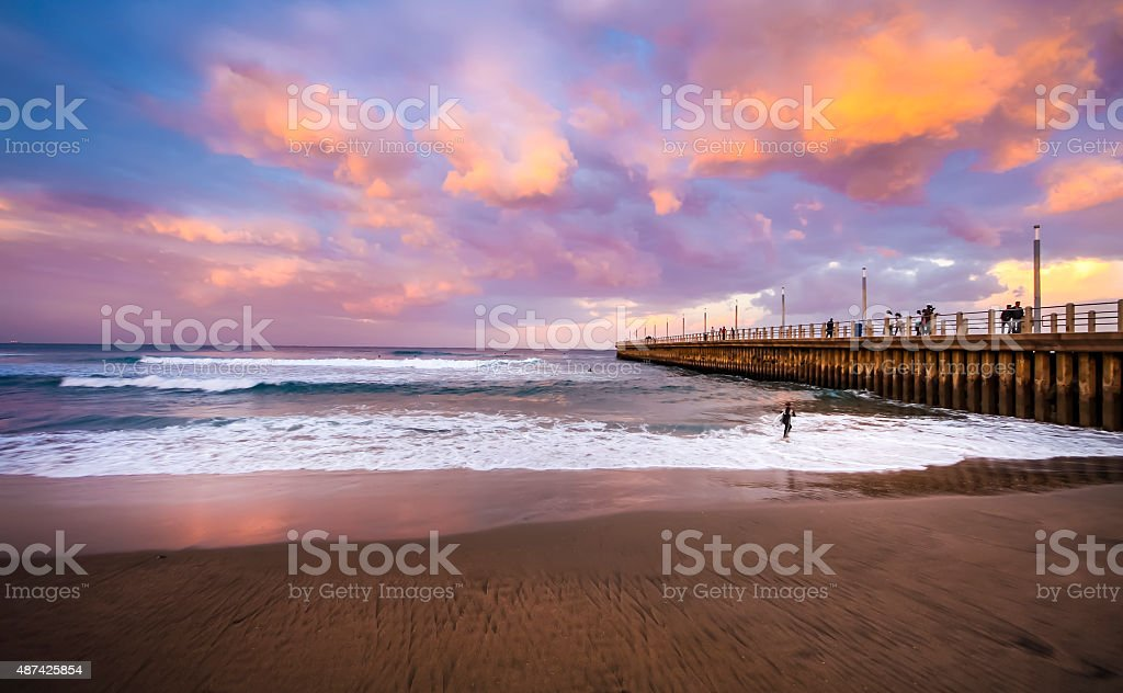 North Pier Durban stock photo