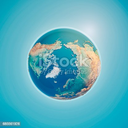 istock North Pole 3D Render Planet Earth 685561926