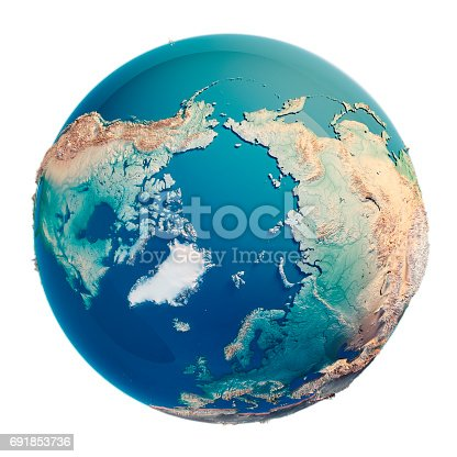 186020817istockphoto North Pole 3D Render Planet Earth 691853736