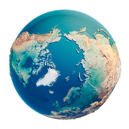 186020817 istock photo North Pole 3D Render Planet Earth 691853736