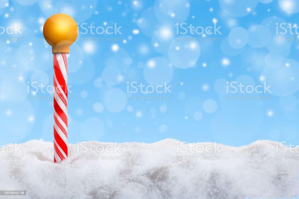 North Pole Marker stock photo