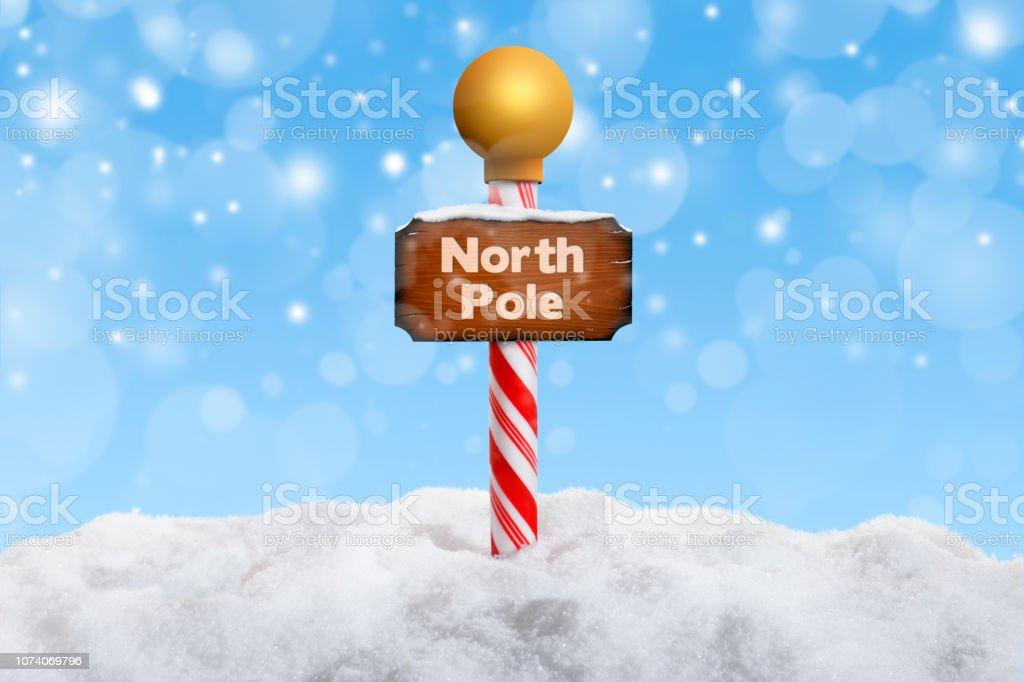 North Pole Sign stock photo