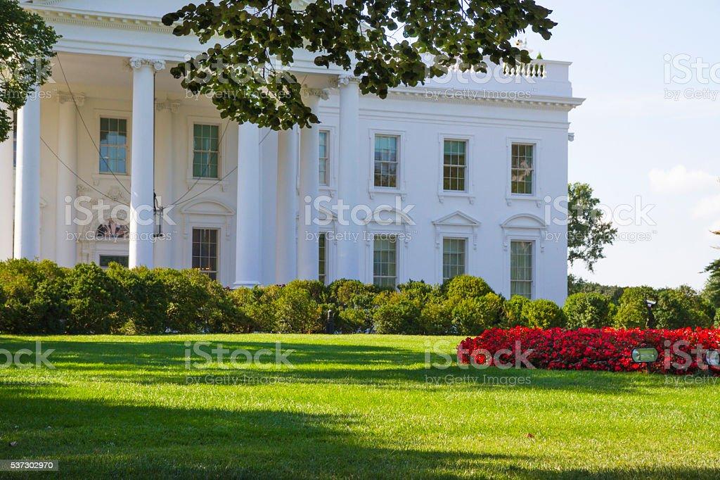 North Portico Of The White House - Washington DC stock photo