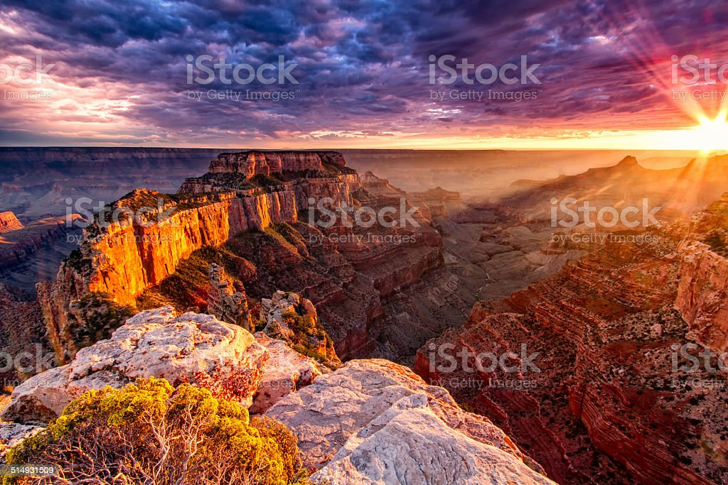 North Rim Grand Canyon Cape Royal stock photo