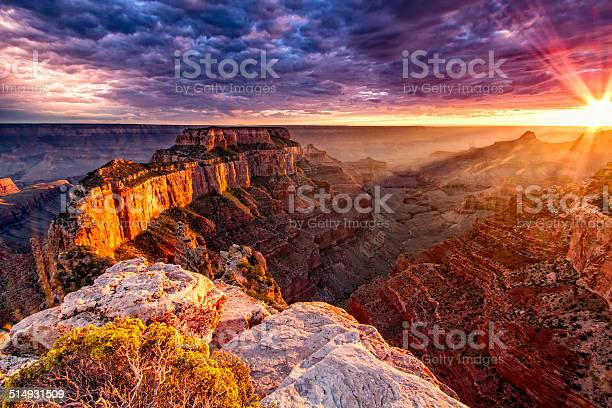 North Rim Grand Canyon Cape Royal Stock Photo - Download Image Now