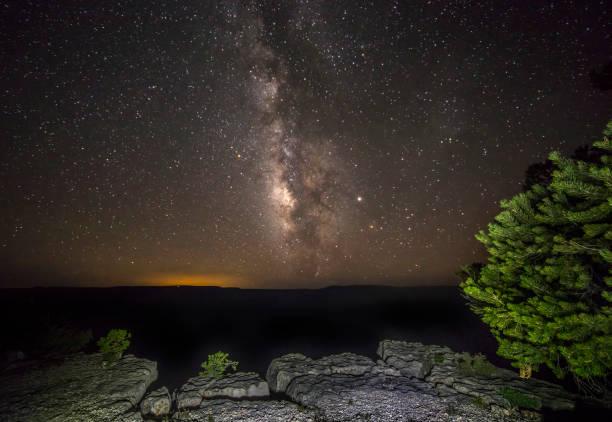 North Rim Milky Way stock photo
