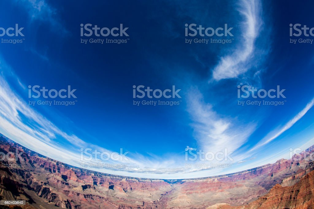 North rim of the majestic Grand Canyon in Arizona with a blue sky in background. royalty-free stock photo